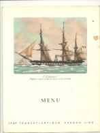MENU Breakfast PAQUEBOT FRANCE COMPAGNIE GENERALE TRANSATLANTIQUE - Menus