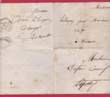 LETTRE DES FORGES ET FONDERIES D UZA  //  POUR LIPOSSEY  //  19 AOUT 1831 - 1801-1848: Précurseurs XIX