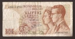 België 50 Frank 14-5- 1966 -NO: 1098 Z 2783 - [ 6] Treasury