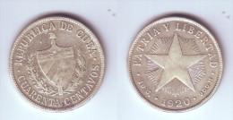 Cuba 40 Centavos 1920 - Cuba