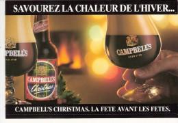Campbell's Christmas Scotch Ale-Bière- Publicité De Table-savourez La Chaleur De L'hiver-chevalet -Recto-Verso-15x13cm- - Autres Collections