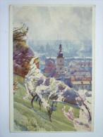 "PRAGUE  :  JARO  V  "" SEMINARSKE ""  ZAHRADE    1919  -  Carte Couleur - Tschechische Republik"