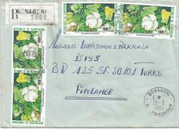 Cameroun Cameroon 1990 Bonaberi R   Cameroun Cotton Registered Cover - Kameroen (1960-...)
