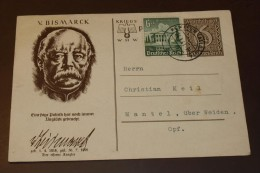 Deutsches Reich Brief WHW Ganzsache Bismark  #cover2269 - Allemagne