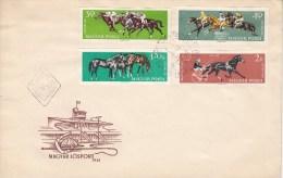 PFERDESPORT-EQUESTRIAN SPORT-HIPPISME-IPPICA, Hungary, 1961, FDC / Special Cancellation !! - Hípica