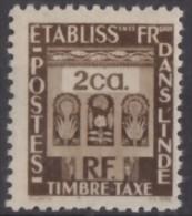 Taxe N° 20 - X X  - ( C 67 ) - India (1892-1954)