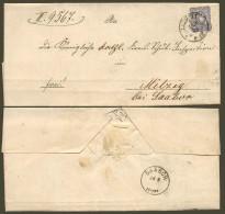 DR 1878 Nr. 34 Auf Doppel-Brief Mit Aptiertem Preußen-K2 LIEGNITZ > Milzig Bei SAABOR OPD Liegnitz - Allemagne