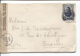 Portugal Lisboa 10/8/1945 Censure 'controle Des Communications 554 V.Bruxelles PR677 - 1910-... Republic