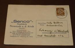 Deutsches Reich Brief  Hindenburg Neustadt Aisch Pinselfabrik Senco   #cover2291 - Lettres & Documents