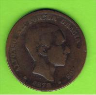 5  ESPAÑA   -  ALFONSO XII  10 Centimos 1878 Patina - Primeras Acuñaciones