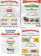 RICHTER 2014 DDR Zusammendrucke,Markenhefte+Abarten Katalog 1,2+4 New 75€ Se-tenant/booklet Special Catalogue Of Germany - Collections