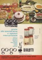 # BIALETTI FRULLATORE ROBOT DA CUCINA 1960s Advert Pubblicità Publicitè Reklame Roboter-Kucke Household Menage Haushalt - Manifesti