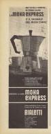 # BIALETTI MOKA CAFFE´ 1950s Advert Pubblicità Publicitè Reklame Coffee Pot Cafetiere Cafè Moca Mokka Kaffeemaschine - Manifesti