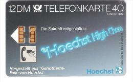 Germany  - S 02a/89 - Hoechst High Chem - DD2909 Ohne Rillen - Early Card - Germany