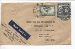 Belgisch Congo Belge TP 244A-PA8 S/L.Avion C.Lusambo 12/12/46 V.Bruxelles PR683