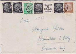 DR 3 Reich Hindenburg Zusammendruck Aus EGS II Ua Bf Berlin 1941 - Zusammendrucke