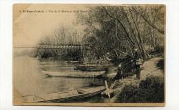 CP , 94 , CRETEIL - SAINT-MAUR , Vue De La Marne Et De La Passerelle - France