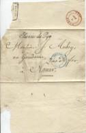 Belgique-België Manchon En Franchise Service Du Roi C.bleu Bruxelles 6/11/1843 V.Namur PR687 - Marcofilia
