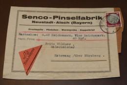 Deutsches Reich Brief  60 Pfg Hindenburg Nachnahme Neustadt Aisch  #cover2316 - Lettres & Documents