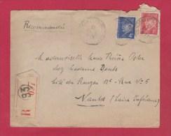 ENVELOPPE RECOMMANDEE  POUR NANTES  //  1943 - 1921-1960: Modern Tijdperk