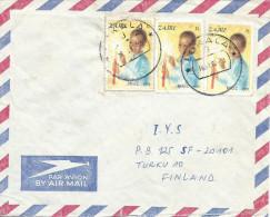 Zaire Congo RDC 1983 Lukala Code Letter B Christmas Child Cover - Zaïre