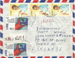 Zaire Congo RDC 1983 Mbuji Mayi Code Letter E Christmas Child Handicapped Year Registered Cover - Zaïre