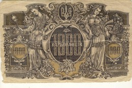 Russland - Ukraina UKRAINE 1000 Karbowanziv 1918 - Russie