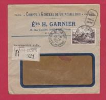 ENVELOPPE RECOMMANDEE ETABL GARNIER  ST DIZIER  //    25/4/1950 - 1921-1960: Modern Tijdperk