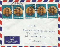 Zaire Congo RDC 1988 Masisi Code Letter A Mobutu Cover - Zaïre