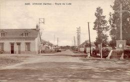 CPA ARNAGE , Route Du Lude En 1939 - France