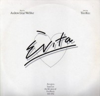 * 2LP *  EVITA - ANDREW LLOYD WEBBER / TIM RICE  (Holland 1976 EX-!!!) - Musicals