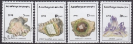 Azerbaidjan - Azerbaijan - Azerbaycan 1994 Yvert 136-39, Minerals - MNH - Azerbaïjan