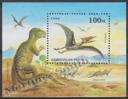 Azerbaidjan - Azerbaijan - Azerbaycan 1994 Yvert BF 9, Prehistoric Fauna, Dinosaurs - MNH - Azerbaïjan