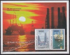 Azerbaidjan - Azerbaijan - Azerbaycan 1997 Yvert BF 35B, 125 Years Of Oildrilling - MNH - Azerbaïjan