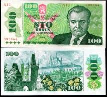 Czechoslovakia 100 Koron 1989  Pick 97 UNC - Tchécoslovaquie