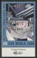 "United Nations New York 2000 Mi 836 ** ""Crossing"" / Kreuzung - By Masakazu Takahata (*1962) Japanese Painter / Maler - Kunst"