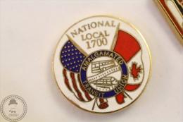 National Local 1700 - Malgamated Transit Union  - Pin Badge #PLS - Transportes