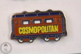 France Advertising Tram/ Tramway Cosmopolitan Magazine Red Colour - Pin Badge #PLS - Transportes