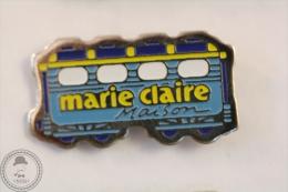 France Advertising Tram/ Tramway Marie Claire Maison Magazine Blue Colour - Pin Badge #PLS - Transportes