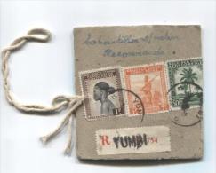 Belgisch Congo Belge TP 237-243-234 S/Echantillon Sans Valeur Recommandé C.Yumbi En 1945 PT697