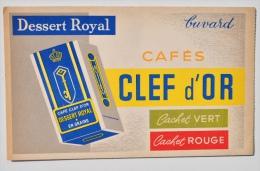 Buvard Cafés CLEF D´OR - Dessert Royal - TBE ! - Kaffee & Tee
