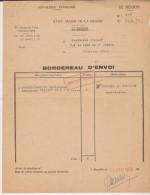 Militaria Marseille état Major De La Région Bordereau D'envoi 1958 - Vieux Papiers