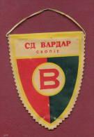 W10  / SPORT - FK Vardar Skopje - Soccer Fussball Calcio - 10 X 12.5 Cm.  Wimpel Fanion Flag Macedonia Macedoine - Otros