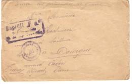 SERVICE DES PRISONNIERS DE GUERRE ENVELOPPE AVEC TAMPONS - Guerra De 1914-18