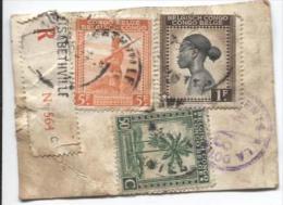 Belgisch Congo Belge TP 263-237-234 S/Echantillon Sans Valeur Recommandé 1945 C.Elisabethville En 1945 PR701