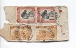 Belgisch Congo Belge TP 240(2)-258(2) S/Echantillon Sans Valeur Recommandé C.Jadotville En 1945 PR703