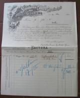 FATTURA STEINKOHLEN CONSUM GESELLSCHAFTGLARUS WOHLEN ANNO 1902 SVIZZERA - Svizzera