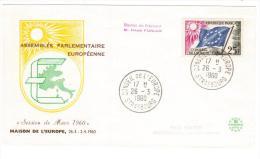 FRANCIA - FDC Conseil De L´Europe 1960 STRASBOURG (AG165) - 1960-1969