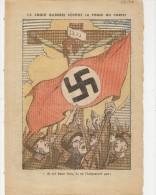 1 Page Pelerin 9 6 1935 Caricature Croix Gammée Contre Croix Du Chrisi Nazisme Contre Religion Dessin Gabriel Gobin - 1900 - 1949