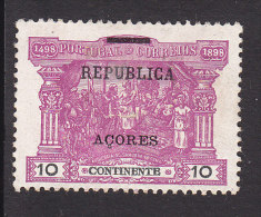 Azores, Scott #150, Mint Hinged, Postage Due Of Portugal Overprinted, Issued 1911 - Azores